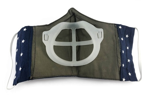 Airbox sewn to cloth facemask