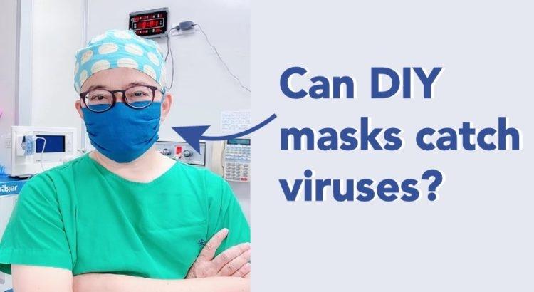 Las mascarillas caseras pueden atrapar virus?